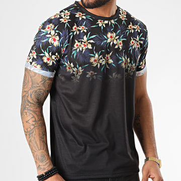 American People - Tee Shirt Floral Merlu Noir