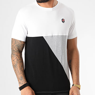 American People - Tee Shirt Murex Blanc Gris Chiné Noir