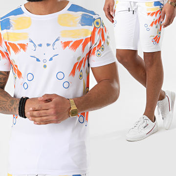 Ensemble Tee Shirt Short Jogging JAK-141A Blanc