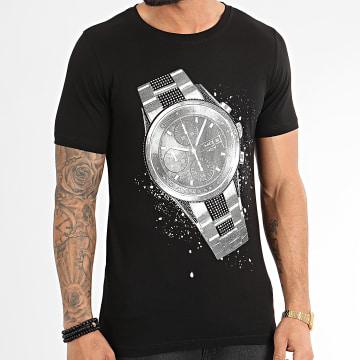 Tee Shirt Avec Strass JAK-143 Noir