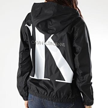 Calvin Klein - Coupe-Vent Femme Large CK Logo 3855 Noir