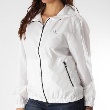 Calvin Klein - Coupe-Vent Femme Large CK Logo 3855 Blanc