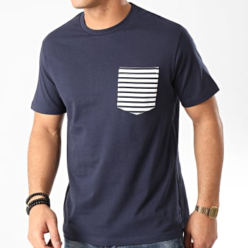 Celio - Tee Shirt Poche Rematelot Bleu Marine