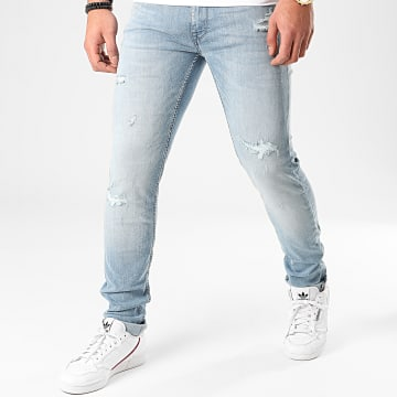 Celio - Jean Slim Ropair Bleu Wash