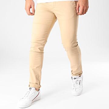 Celio - Pantalon Chino Slim Prime Beige