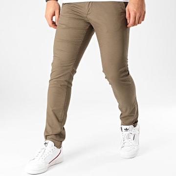 Celio - Pantalon Chino Slim Prime Vert Kaki