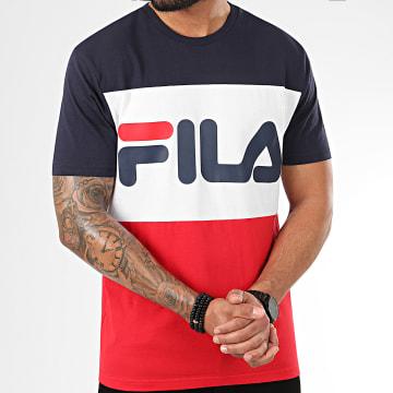 Fila - Tee Shirt Tricolore Day 681244 Rouge Blanc Bleu Marine