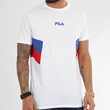 Tee Shirt Tricolore Barry 687482 Blanc