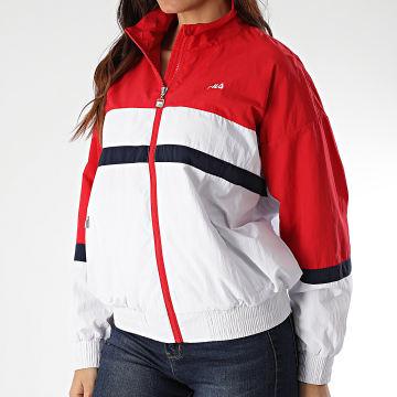 Fila - Veste Zippée Femme Tricolore Kaya 687082 Blanc Rouge Bleu Marine