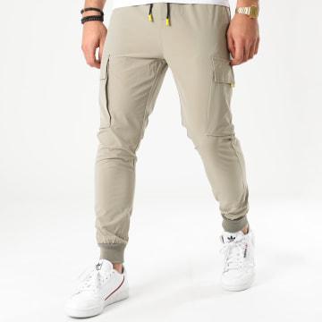 Frilivin - Pantalon Jogging P3206 Vert Kaki Clair Réfléchissant