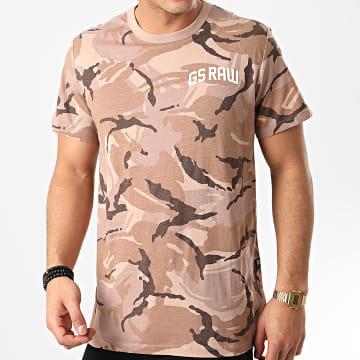 G-Star - Tee Shirt Camouflage D16391-C260 Marron