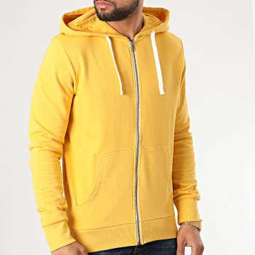 Jack And Jones - Sweat Zippé Capuche Holmen Jaune