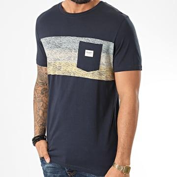 Jack And Jones - Tee Shirt Poche Langley Bleu Marine