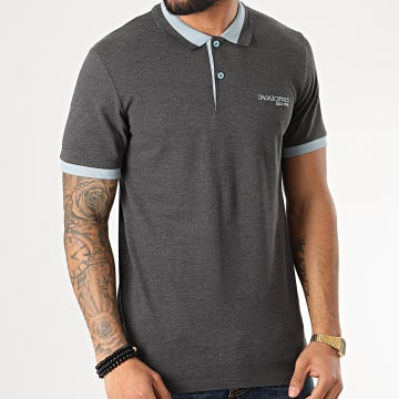 Jack And Jones - Polo Manches Courtes Legend Gris Anthracite Chiné