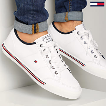 Tommy Hilfiger - Baskets Core Corporate Textile Sneaker 2676 White