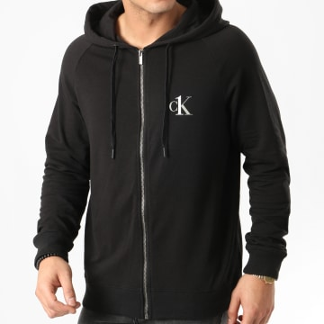 Calvin Klein - Sweat Zippé Capuche Full Zip 1865E Noir