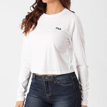 Tee Shirt Crop Manches Longues Femme Eaven Blanc