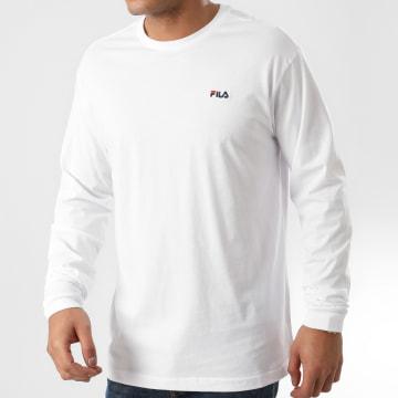 Fila - Tee Shirt Manches Longues Eitan 687606 Blanc