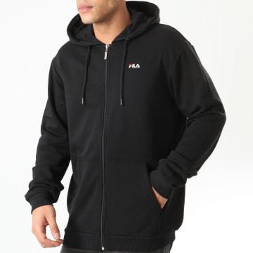 Fila - Sweat Zippé Capuche Elazer 688165 Noir