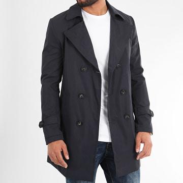 Frilivin - Manteau Trench Coat QQ575 Bleu Marine
