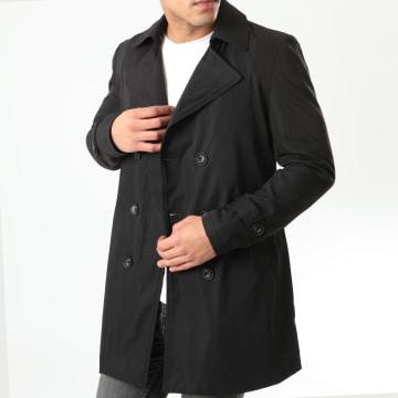 Frilivin - Manteau Trench Coat QQ575 Noir