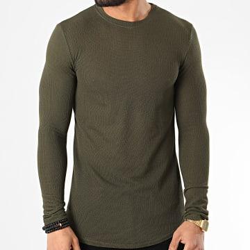 Tee Shirt Manches Longues Oversize 719611 Vert Kaki