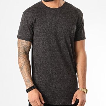 Frilivin - Tee Shirt Oversize 5352 Noir Chiné