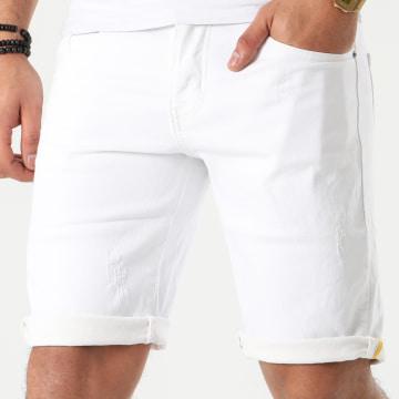 Short Jean Slim JD-208 Blanc