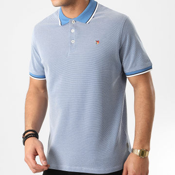 Jack And Jones - Polo Manches Courtes Bluwin Bleu Clair