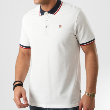 Jack And Jones - Polo Manches Courtes Bluwin Ecru