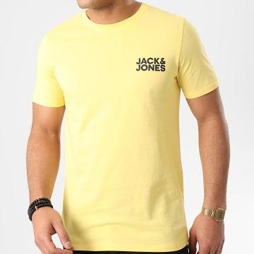 Jack And Jones - Tee Shirt Corp Logo Jaune
