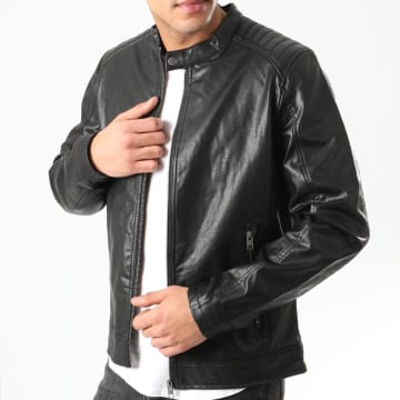 Jack And Jones - Veste Biker Ack Noir