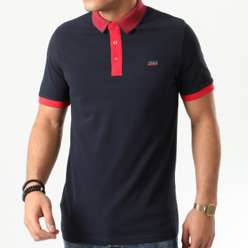 Jack And Jones - Polo Manches Courtes Charming Bleu Marine