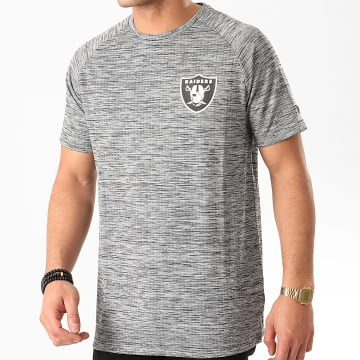 New Era - Tee Shirt NFL Oakland Raiders Engineered Raglan 12195336 Gris Chiné