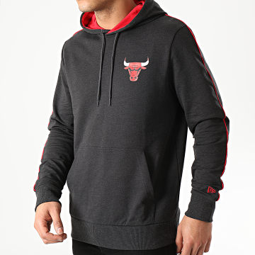 New Era - Sweat Capuche NBA Chicago Bulls Piping 12195378 Gris Anthracite Chiné