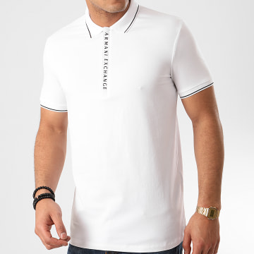Armani Exchange - Polo Manches Courtes 8NZF71-ZJH2Z Blanc