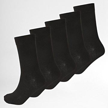 Lot De 5 Paires De Chaussettes Stan Noir