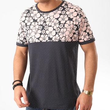 Tee Shirt Floral Pearl Bleu Marine