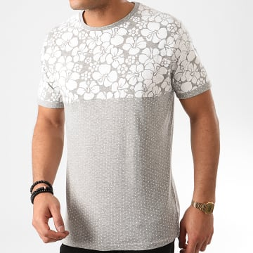 Tee Shirt Floral Pearl Gris Chiné