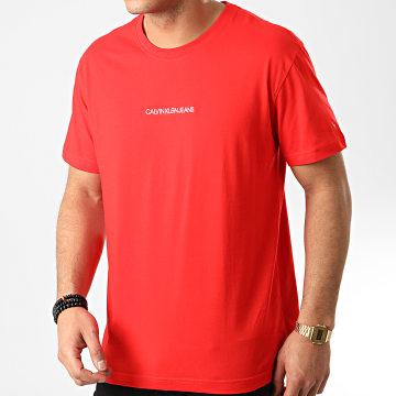 Calvin Klein - Tee Shirt Institutional Chest Logo 5186 Rouge