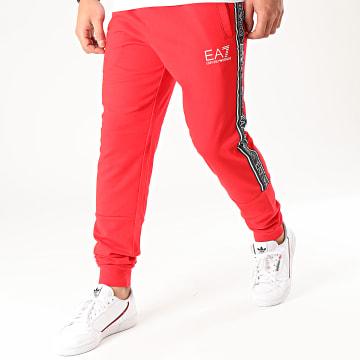 EA7 - Pantalon Jogging A Bandes 3HPP61-PJ05Z Rouge