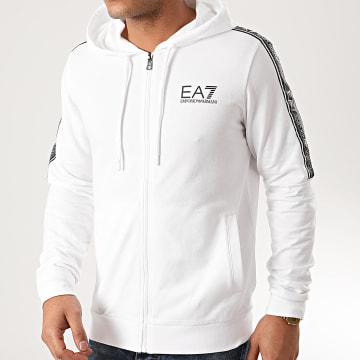 EA7 - Sweat Zippé Capuche 3HPM24-PJ05Z Blanc