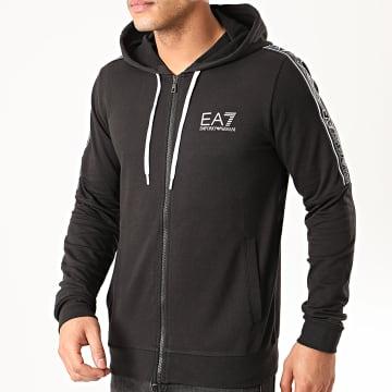 EA7 - Sweat Zippé Capuche 3HPM24-PJ05Z Noir