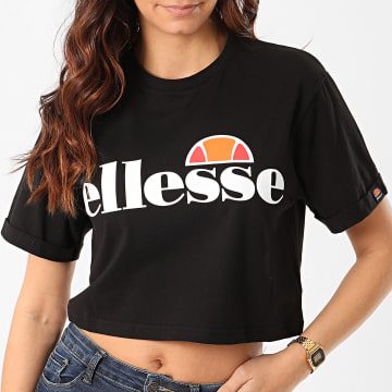 Ellesse - Tee Shirt Crop Femme Alberta SGS04484 Noir