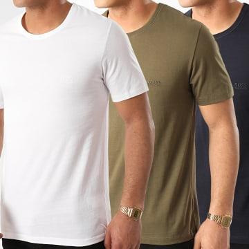 Lot De 3 Tee Shirts 50325887 Blanc Bleu Marine Vert Kaki
