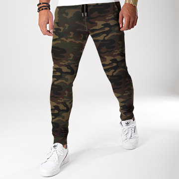 LBO - Pantalon Jogging Fit 1076 Camouflage Vert Kaki