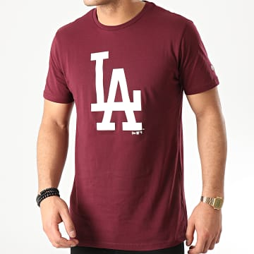 New Era - Tee Shirt MLB Seasonal Team Logo Los Angeles Dodgers 12195430 Bordeaux