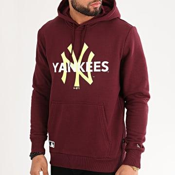 New Era - Sweat Capuche MLB New York Yankees 12195437 Bordeaux