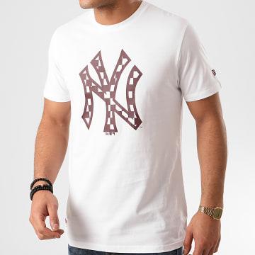 New Era - Tee Shirt MLB Infill Logo New York Yankees 12195439 Blanc