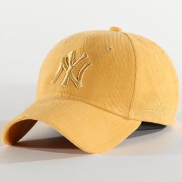 New Era - Casquette Femme 9Forty Pastel Corduroy 12285199 New York Yankees Jaune